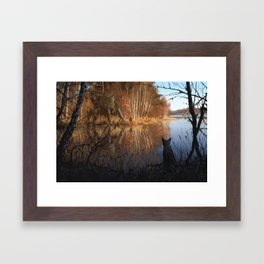 1920 - on the shore Framed Art Print