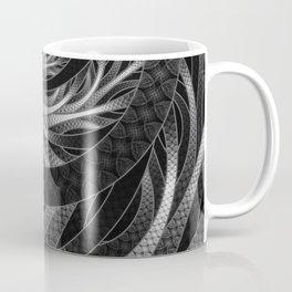 Shining Silver Corded Fractal Bangles Coffee Mug