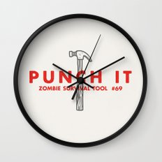 Punch it - Zombie Survival Tools Wall Clock