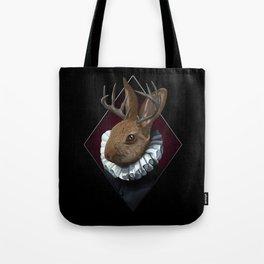 The Regal Jackalope Tote Bag