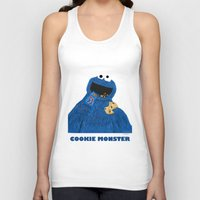 cookie monster Tank Tops featuring Cookie Monster by Dano77