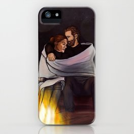 fireplace cuddles // kabby iPhone Case