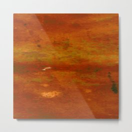 Orange and electric texture 2 Metal Print
