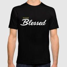 blessed MEDIUM Black Mens Fitted Tee