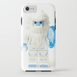 White Yeti Minifig eating an icecream iPhone Case