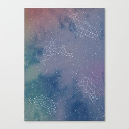 Animals in space Canvas Print