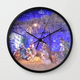 Christmas Nativity Scene Wall Clock