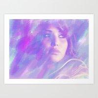 jennifer lawrence Art Prints featuring Jennifer Lawrence by Maria Renee
