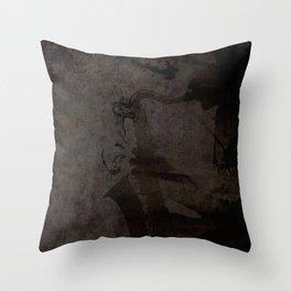 Jazzman laptop Throw Pillow