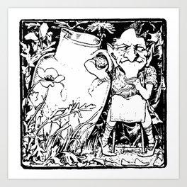 When Leprechauns Go Bad A Surly Drunken Clurichaun Art Print