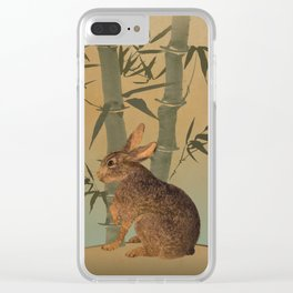 Hare Under Bamboo Tree Clear iPhone Case