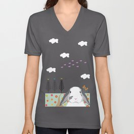 Jokke, The Rabbit Unisex V-Neck