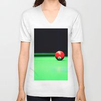 solid V-neck T-shirts featuring Solid by Christa Bullock