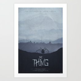 Winter - The Thing (1982) Poster Art Print