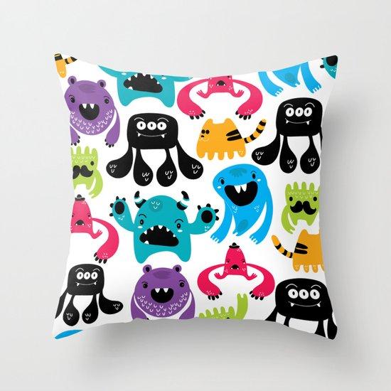 Monster pattern Throw Pillow