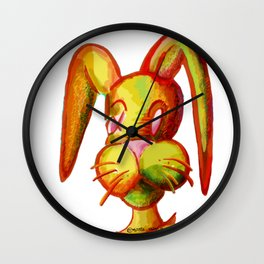 Portrait of Rabbit Wall Clock