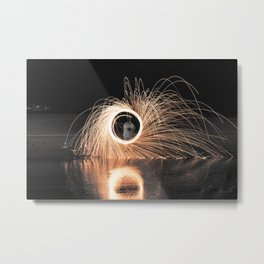 Fire Spinner Metal Print