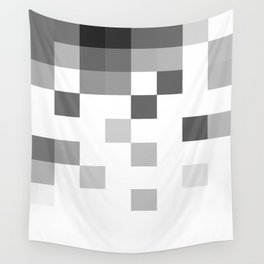Gray Scale In Pixels Wall Tapestry
