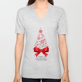 Christmas tree with snowflakes Unisex V-Neck