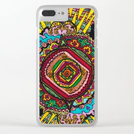 What spins is spun Clear iPhone Case