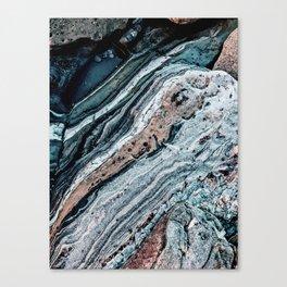 Blue Topography Dream Canvas Print