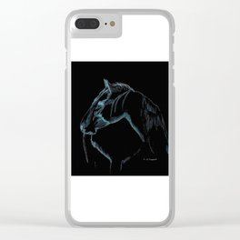""" Black Stallion "" Clear iPhone Case"
