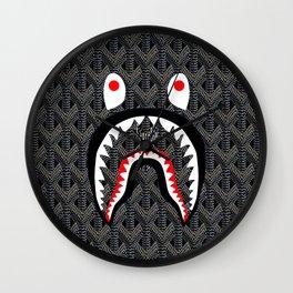 Goyard Bape Shark Grey Wall Clock