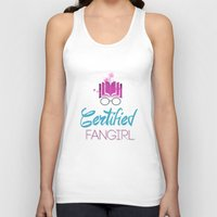 fangirl Tank Tops featuring Certified Fangirl  by Abookutopia