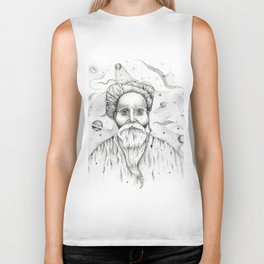 Aim for the moon, land in the stars Biker Tank