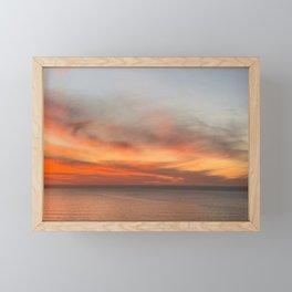 Orange Fire Sky, Photography by Christie Olstad Framed Mini Art Print
