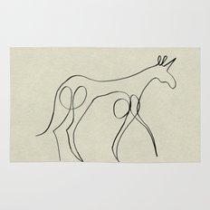 Continuous Line Unicorn Rug