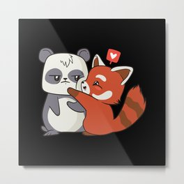 Pnada Love Metal Print