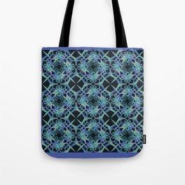 Thanksgiving Tiled - Blue Black Tote Bag