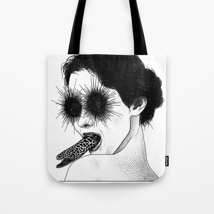 asc 591 - Le regard de la Méduse (The mesmerizing mermaid) Tote Bag