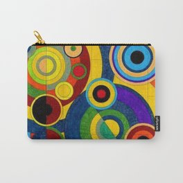 Geometric Mural by Robert Delaunay Carry-All Pouch