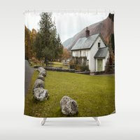 irish Shower Curtains featuring Irish Cottage by Bekah Marie from Mere Image Photography