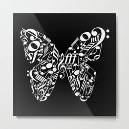 Invert music butterfly Metal Print