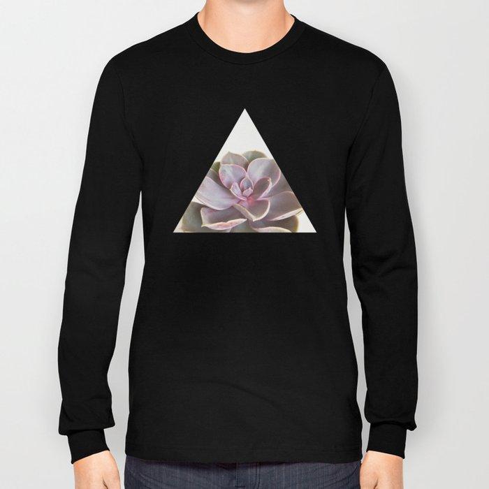 Purple Succulent Long Sleeve T-shirt