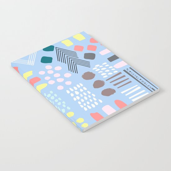 Abstract Geo Pastel Notebook