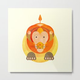 The rounded lion Metal Print