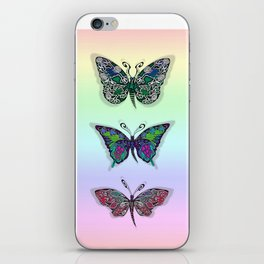 Rainbow Butterflys iPhone Skin