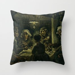The Potato Eaters - Van Gogh Throw Pillow