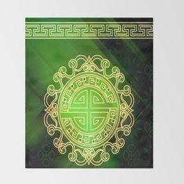 Jade island Throw Blanket