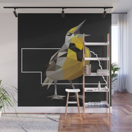 Nebraska – Western Meadowlark (Black) Wall Mural