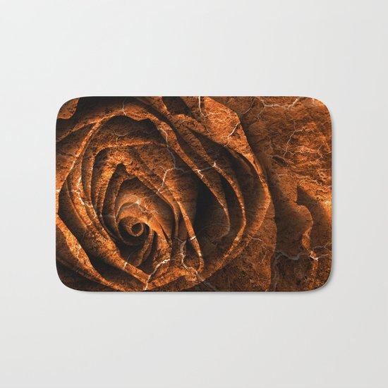 Burning Grunge Rose Bath Mat