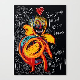 Always be proud of you street art graffiti Canvas Print