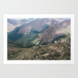 Mountain Goats on Mt. Massive Art Print