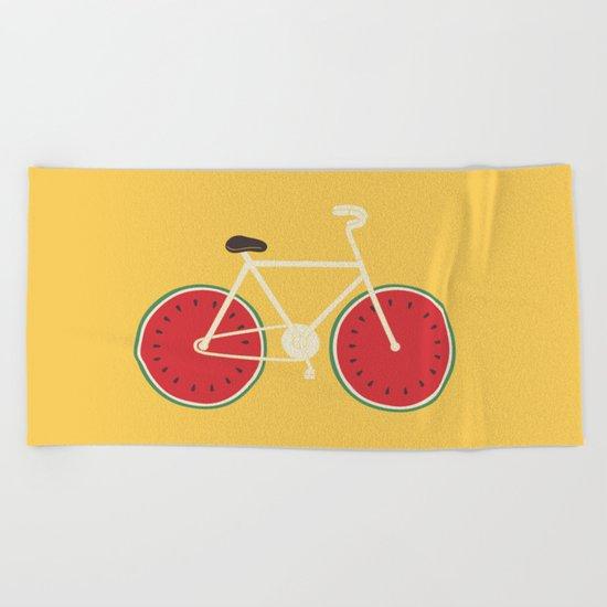 watermelon bike Beach Towel
