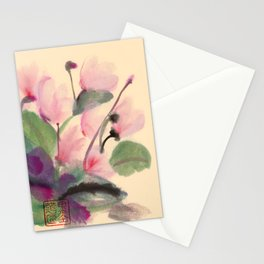 Cyclamen Series Stationery Cards