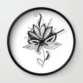 Solitary Flower Wall Clock